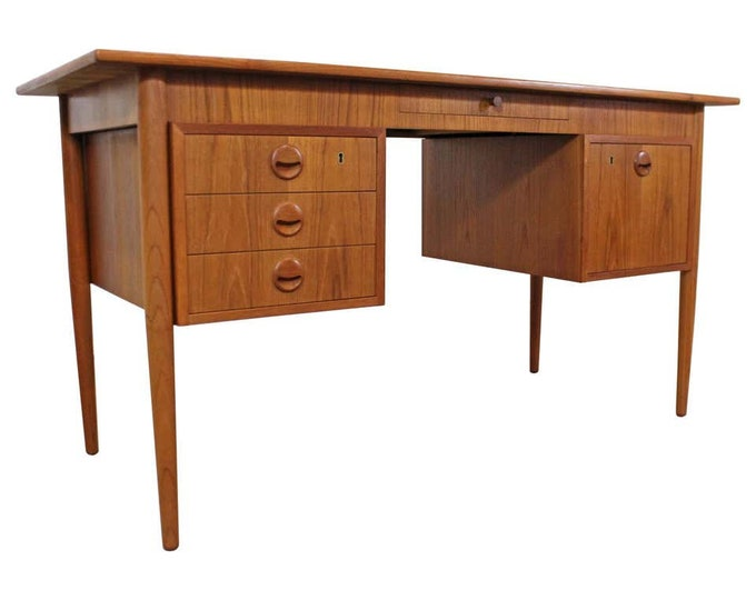 Mid-Century Danish Modern AP Mobler Svestrup J Teak Executive Desk