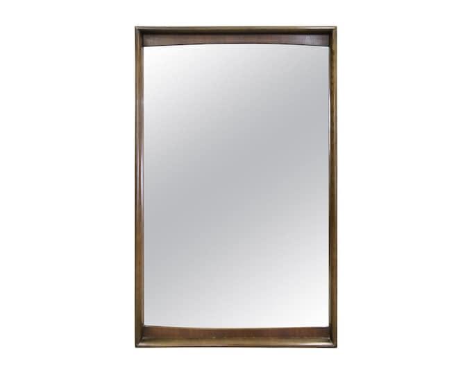 Mid-Century Modern Kagan Style Large Walnut Mirror United Furniture