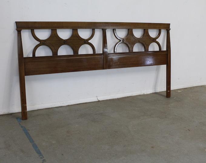 Mid-Century Regency King Size Bed/Headboard