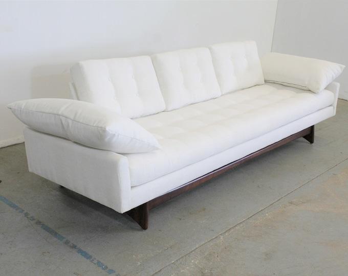 Mid-Century Modern Adrian Pearsall Craft Associates Sofa 2408 / Vintage Modern White Sofa