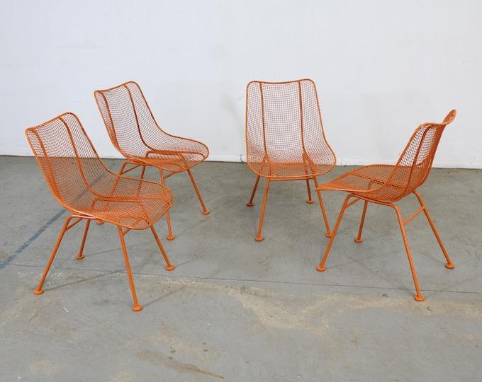 Set of 4 Mid Century Danish Modern Woodard Sculptura Side Chairs