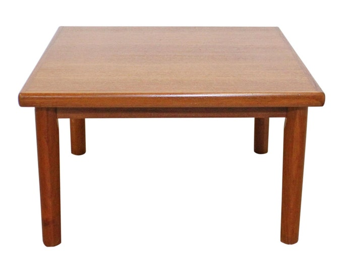 Danish Modern BRDR Furbo Square Teak End Table, Coffee Table, Mid-Century Modern, Scandinavian Modern