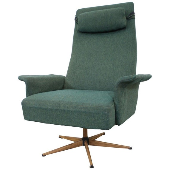 Fantastic Mid Century Danish Modern High Back Swivel Rocker Lounge Chair Machost Co Dining Chair Design Ideas Machostcouk