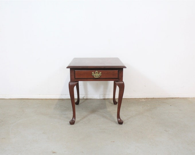 Pennsylvania House Cherry Queen Anne End Table with Drawer