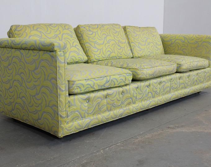 "Mid-Century Modern Milo Baughman Style Low Sofa 93"""