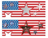 items similar to facebook cover template american flag stars and