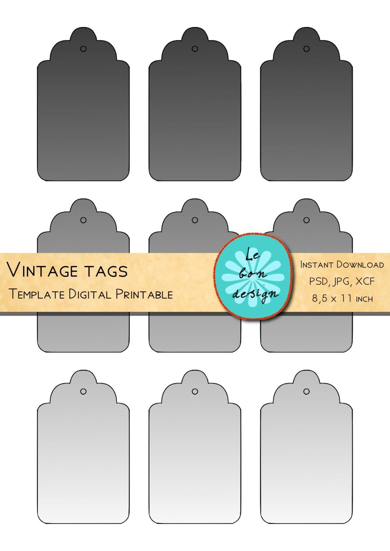 Para imprimir etiquetas plantilla collage digital diy hoja | Etsy