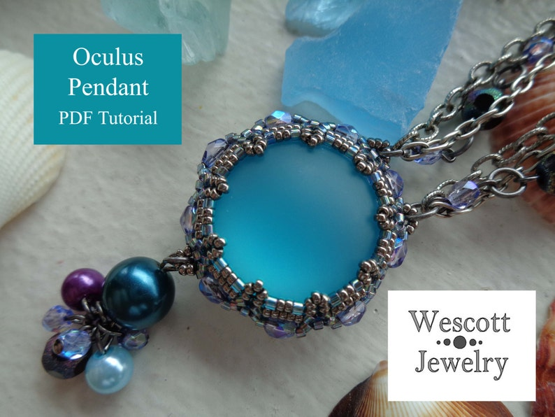 Beadweaving Pattern for Oculus Reversible Pendant with image 0