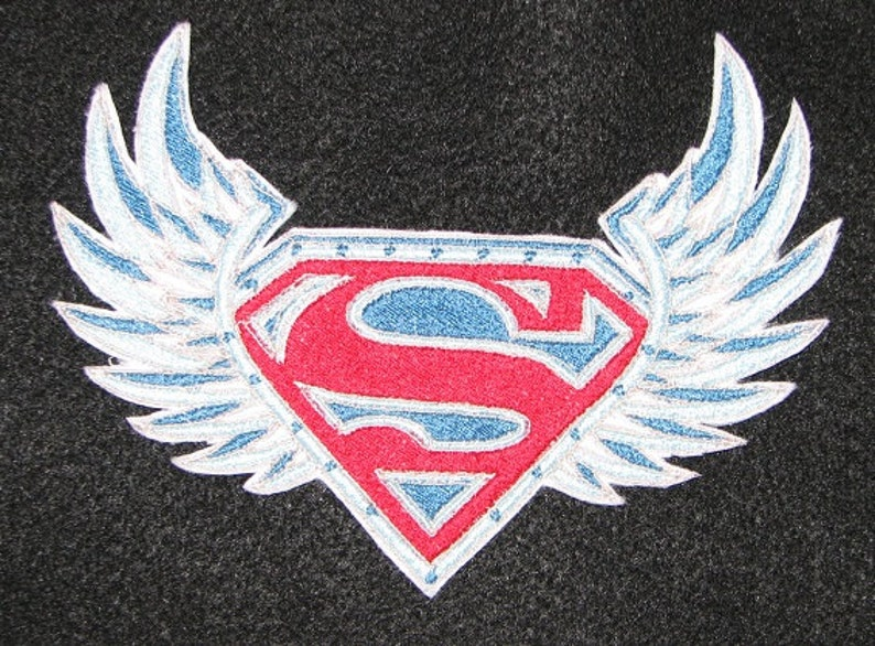 Superman With Wings Super Hero Comics Iron On No Sew Etsy