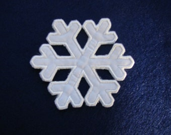 Snowflake Frozen Iron on No Sew Embroidered Patch Applique