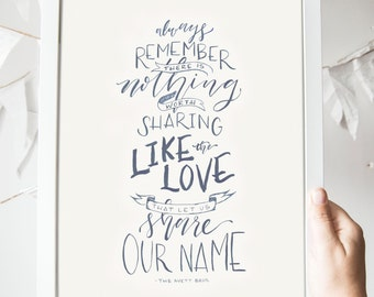 Share Our Name Print