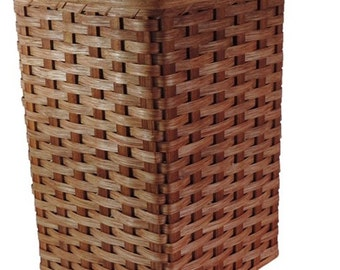 Amish Handmade Small Corner Hamper Basket w/Fitted Lid