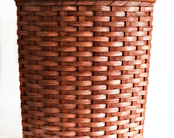 Amish Handmade Large Corner Hamper Basket w/Fitted Lid--CUSTOM COLORS AVAILABLE (see Item Details)