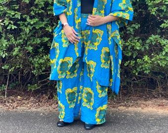 Amara Pants/ African Print Pants/ Wide leg/ Ankara Pants / Resort