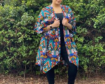 Adriana Duster/ African Print/ Ankara/ Kaftan/ Jacket/ Robe/ Blazer/ Coat