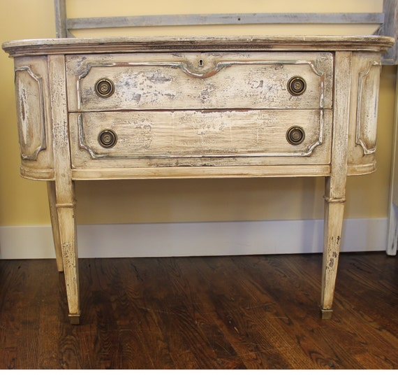 Antique French Patina Sideboard Shabby Chic Server Etsy