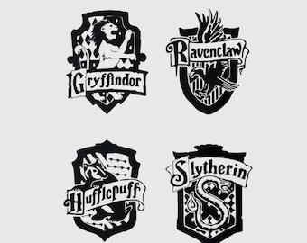 Small Harry Potter House Crest Vinyl Decal Set