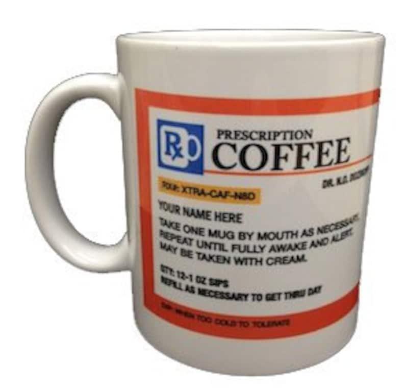 Personalized Prescription Coffee Mug | Etsy