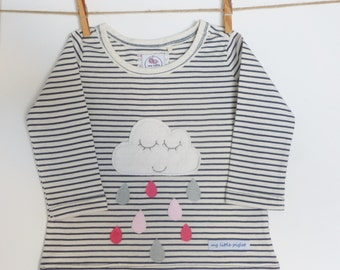 Happy cloud long sleeved top sizes 3-6mths, 6-9mths, 12-18mths and 18-24mths