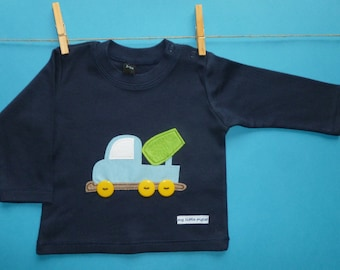 Cement truck long sleeved top baby boy size 3-6 mths