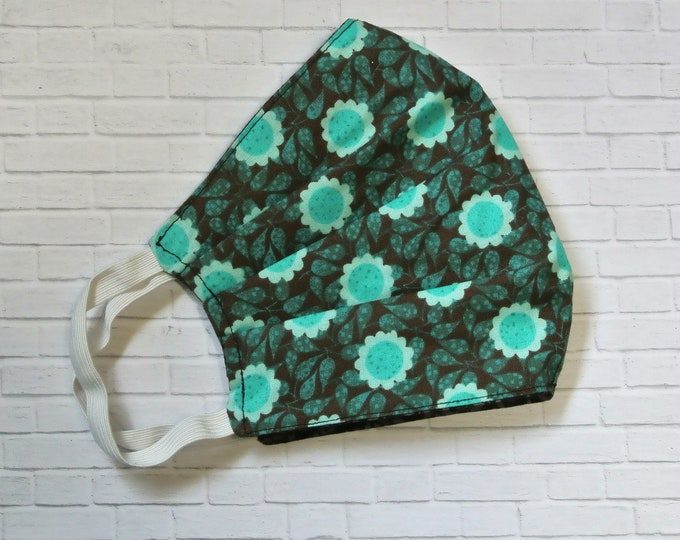 Featured listing image: Fabric face mask, washable, reusable, reversible eco friendly face covering