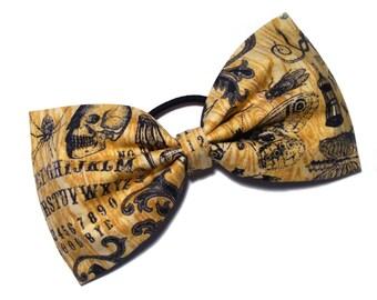 Halloween spirit board cheer bow, all star cheer bow, tailless cheer bow, tuxedo bow, ouija bow