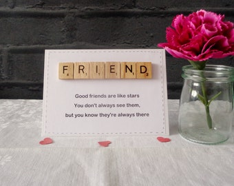 FRIEND card, Best friend greetings, Bestie,  Humorous card, All occasions, Galentine's Day,