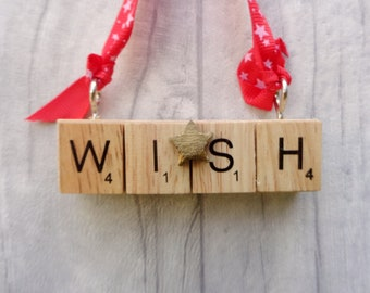 Wish upon a star decoration, Make a wish, Someone special, Christmas wish star, tree decoration,