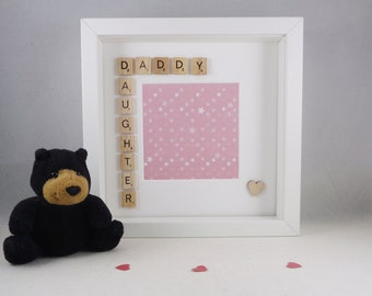 Daddy Daughter photo frame, Special keepsake, Gift for Father's Day, Christmas Birthday present, New Daddy gift