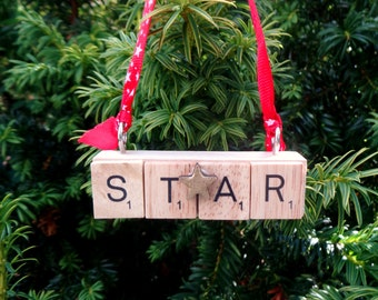 STAR Christmas tree ornament, You are a Star, Lucky Star, Someone special
