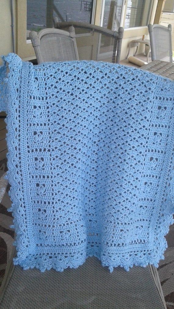 Blaue Babydecke baby blue Baby-Decke blau Baby-Decke | Etsy