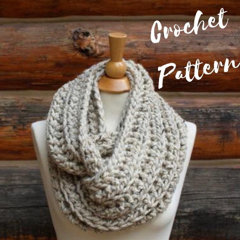 Crochet Pattern The Malia Scarf Chunky Ribbed Infinity Etsy