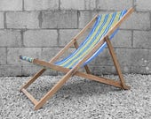 Vintage Deck Chair Garden Lounger Summer Seat