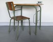 School Desk Chair Industrial Mid Century Vintage Modernist 1950s French