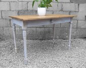 French Pine Farmhouse Dining Table Victorian