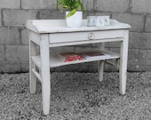 Rustic Sideboard Old White Vintage French Hall Table Antique Bathroom Storage