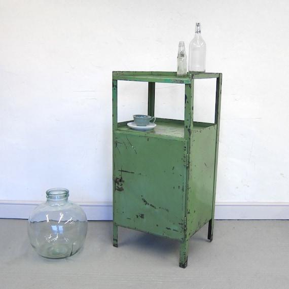 Industrial Metal Steel Locker Storage Cabinet Cupboard 1950s Workshop