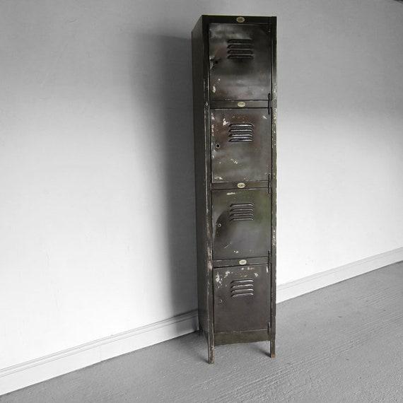 Industrial Steel Metal Locker Vintage Pigeon Holes Hall Storage Cupboard