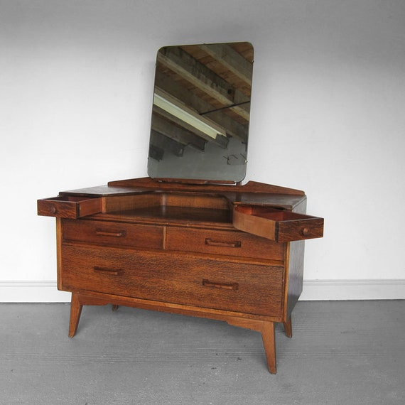 Dressing Table Mirror Mid Century 1970s GPlan Chest Drawers