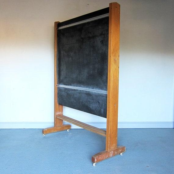 Vintage School Blackboard Revolving Chalkboard Menu Board Event