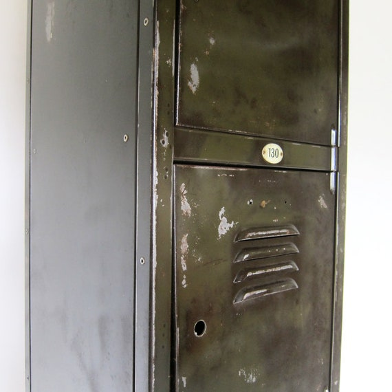 Industrial Steel Metal Locker Vintage Pigeon Holes Hall Storage Cupboard