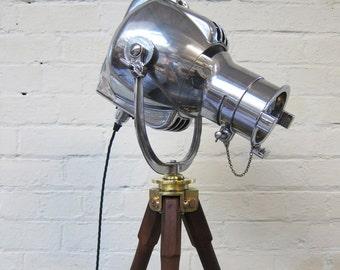 Vintage Light On Tripod - 1960s Industrial Strand Theatre Lamp