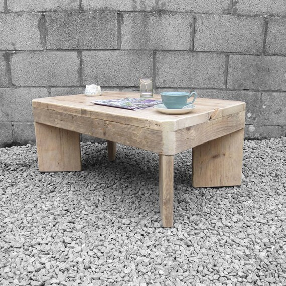 Coffee Table Rustic Pine Scaffold Board UpCycled Vintage Table