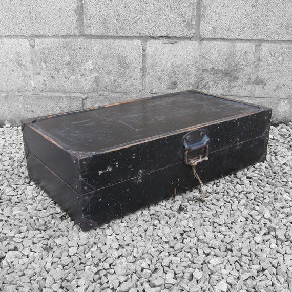 Rustic Pine Box Storage Tools Box Trunk Chest
