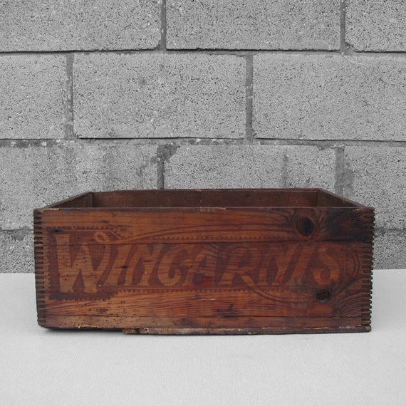Rustic Wincarnis Norwich Crate Pine Box Storage Display