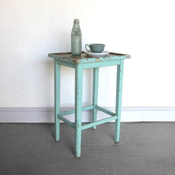 Rustic Vintage Farmhouse Side Lamp Bedside Table
