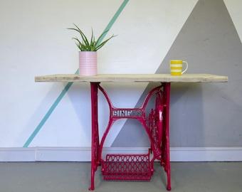Pink Singer Table Industrial Pine Scaffold Sideboard Desk