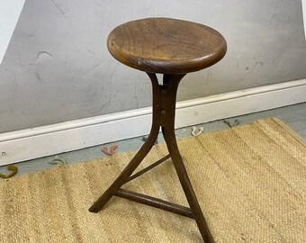 Antique Vintage Stool Machinist Industrial Workmans Seat