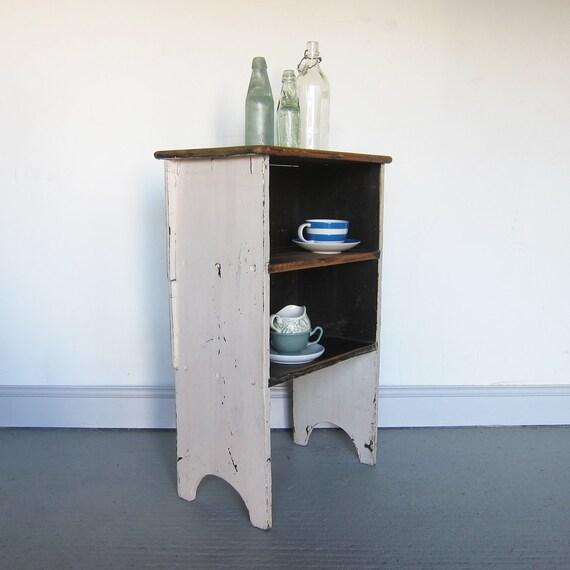 Vintage Pine Cabinet Farmhouse Bedside Table Storage Cupboard