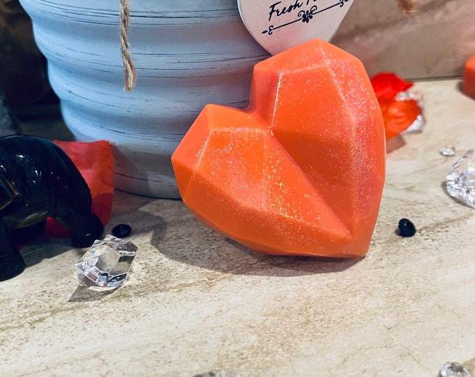 Featured listing image: Gemstone Wax Melts! Handcrafted Faceted Heart in your choice of Gem. They Smell INCREDIBLE! Great Gift, Home Decor